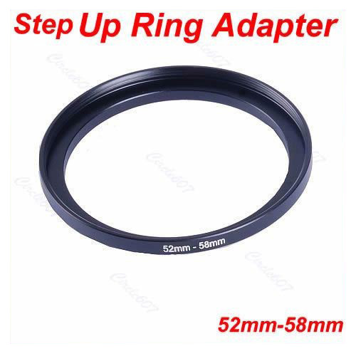 1Pc Metal 52mm-58mm Step Up Filter Lens Ring Adapter 52-58 mm 52 to 58 Stepping