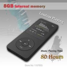 """Real de alta calidad de 8 GB 80 Horas de reproducción de Música sin pérdidas MP3 player 1.8 """"pantalla TFT MP3 E-libro photo Music FM radio Reloj de Datos"""