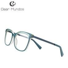 7303b14635 Claro MUNDOS Retro hombres y mujeres acetato de frente de templo gafas  miopes no anteojos recetados para 17465