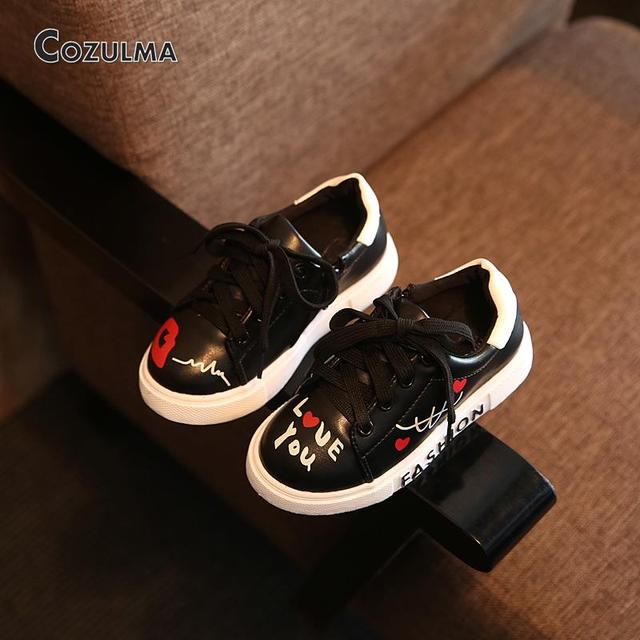 2018 Spring Child Sport Shoes Sneakers PU Leather Sneaker Boys Girls Sneakers  Kids Shoes 1