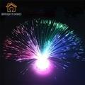 Hermosa Romántica Multicolor Cambiante LED de Fibra Óptica luz Nocturna Lámpara Brillante Brillante Iluminación del Hogar de la Decoración Del Partido de Vacaciones