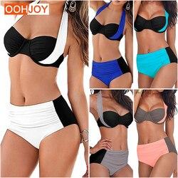 New Sexy Bikini Women Swimsuit High Waist Swimwear Plus Size Bathing Suit Halter Push Up Brazilian Beachwear Tankini 3XL