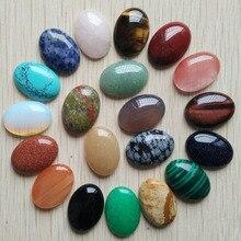 شحن مجاني 20 قطعة/الوحدة بالجملة 18x25 مللي متر 2020 الساخن بيع الحجر الطبيعي مختلطة البيضاوي الكابينة كابوشون دمعة الخرز لصنع المجوهرات