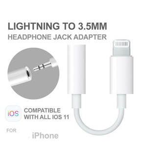1 pcs Universal 3.5mm AUX Headphone Audio Jack Adapter Cable For iPhone 7 8 plus