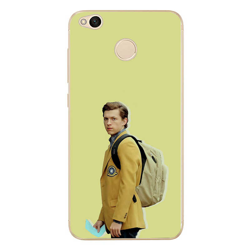 Marvel hombre araña Tom Holland suave de silicona caja del teléfono TPU para redmi 4A 4X4 5X5 5a 5 Plus nota 4 4X4 5X5 para xiaomi 4 5 6 6X8 note3