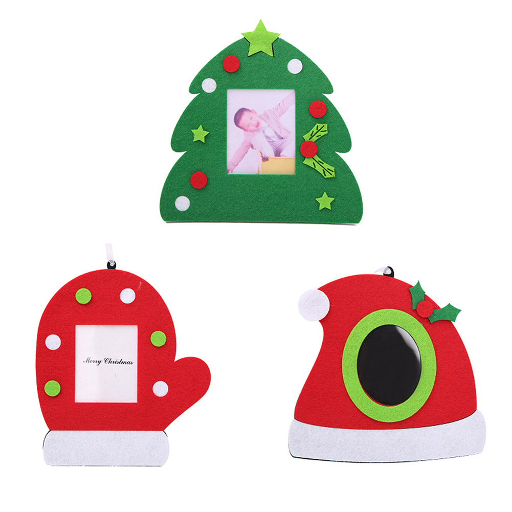 1PC Merry Christmas Tree Gloves Christmas Picture Frame Pendant Hanging Photo Frame Decoration Home Chirstmas Decoration ...