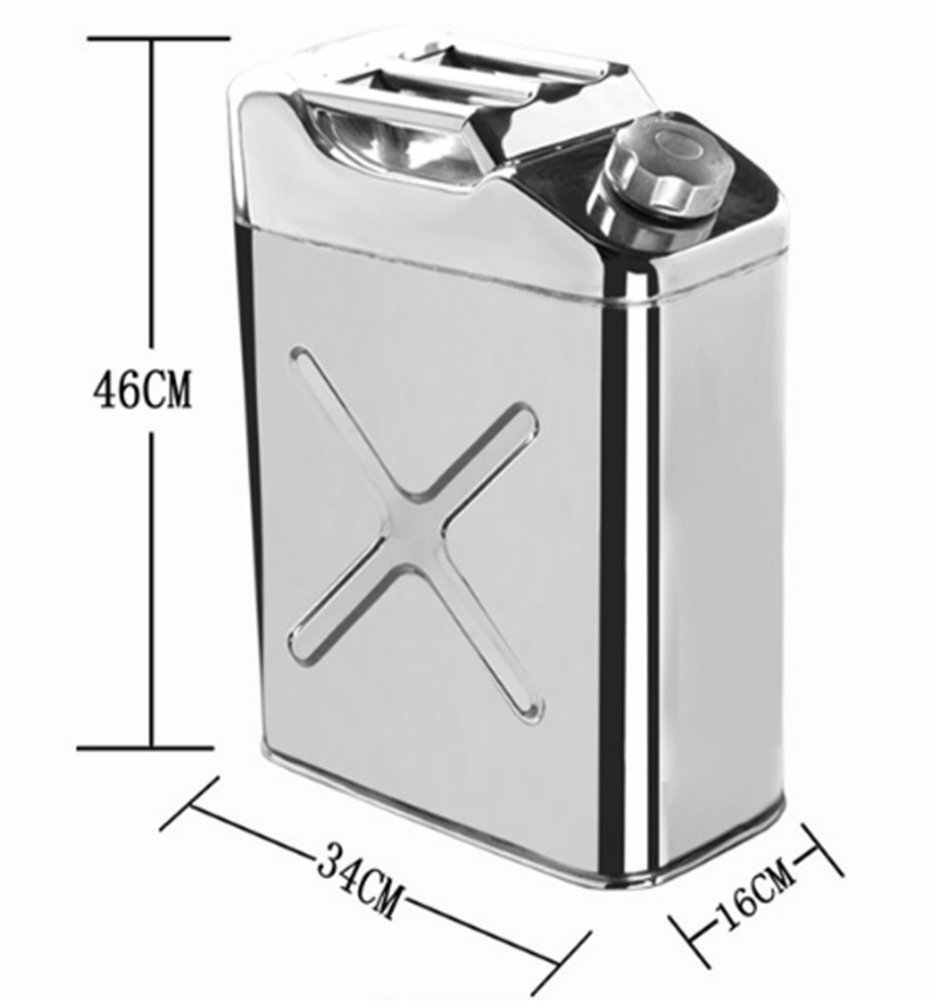 for Motorcycles and Automobiles,15l 304 Stainless Steel Gasoline Can With Hose Jerry Can Petrol Can Gasoline Can 15L//20L Gas Tank Fuel Storage Tank
