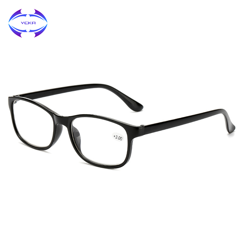 VCKA Ultra-light Reading Glasses Brand Women Men TR90 Plastic Anti-drop Magnifying Presbyopic Oculos+1 +1.5 +2 +2.5 +3 +3.5 +4.0