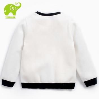 Yeedison 3T-12Y Casual Kids Sweatshirt Boy Cottony Loose Active Daily Wear Girls Sweatshirt Thick Warm Autumn Tops Boys Clothing
