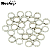 100Pcs Stainless Steel Fishing Split Rings for Blank Lure Hard Bait 6.5-10mm Carp Rig Rings Lure Accesorios Pesca Fishing Tackle