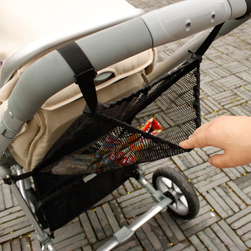 Practical Baby Trolley Bunch Net Pocket Infant Stroller Mesh Bottle Diaper Storage Organizer Bag Holder