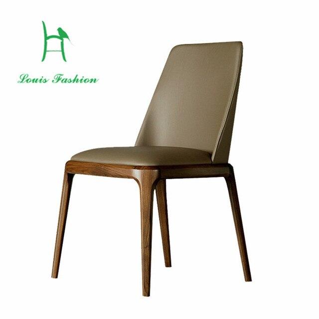 Silla de comedor moderna minimalista nórdico Retro madera silla de ...