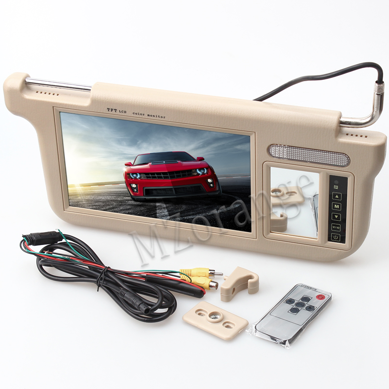 Sonnenblende auto monitor TV in die auto auto visier monitor dvd sonnenblende 1 stück Touch 9 zoll Auto sonnenblende Monitor auto tv