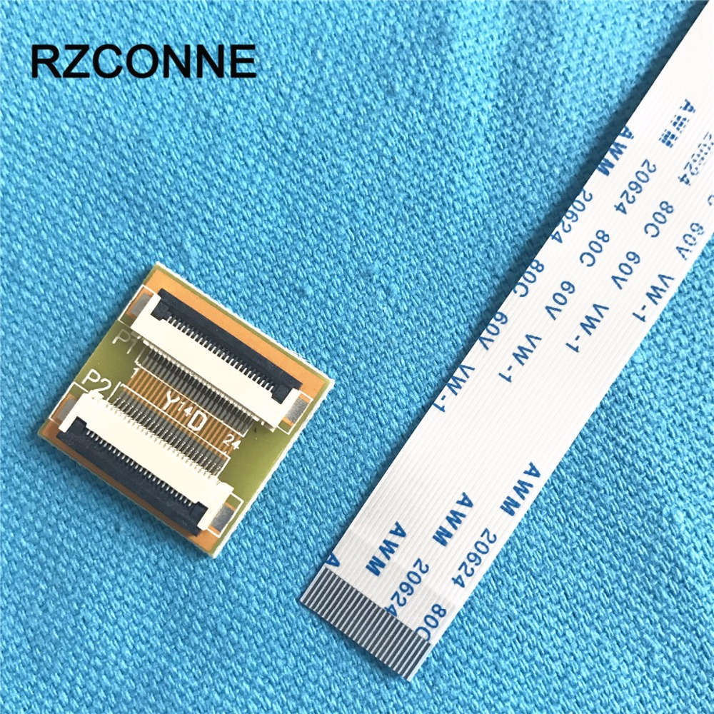 24Pin To 24Pin ZIF 0.5mm Pitch Connector Adapter With Extension FFC Cable 50-500mm Can Choose New 2set