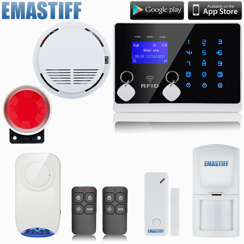 Free shipping!Wireless Intelligent Burglar Alarm System Dual Antenna Home Security Tri-band GSM with wireless indoor flash siren new original keyboard bezel palmrest cover for lenovo thinkpad t440 uma swg with touchpad fingerprint reader nfc 04x5471 04x5472