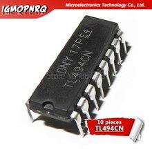 10 pces tl494cn tl494 494 switng controladores 40 khz 200ma pwm dip-16 original novo