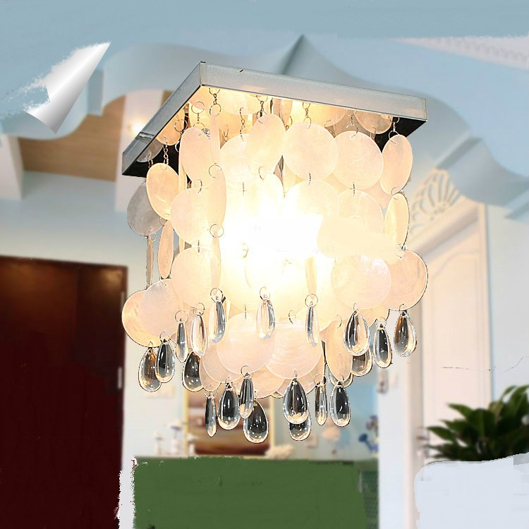 Mediterranean Shell Ceiling Lights Romantic Wedding Gift Warm Living Room Restaurant Bed ...