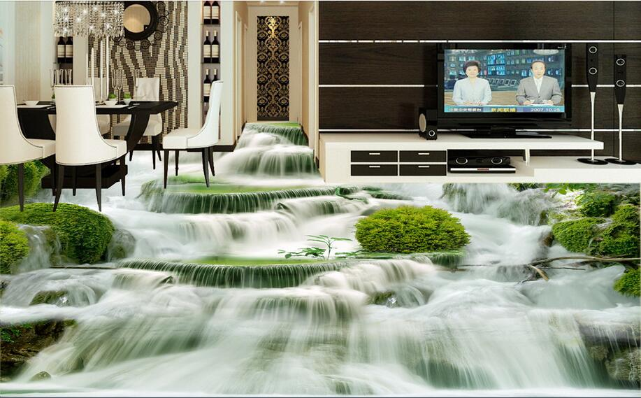 3 d flooring High-end custom pvc wall sticker 3 d Mountain water falls painting 3d room flooring photo wallpaper for walls 3d custom photo 3d wall murals wallpaper mountain waterfalls water decor painting picture wallpapers for walls 3 d living room
