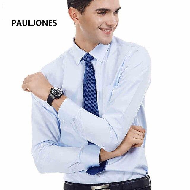 2016 новый мужская рубашка марка высокое качество нормальное бизнес модные футболки мужчины с длинным рукавом Классический легкий уход Camisa Masculina