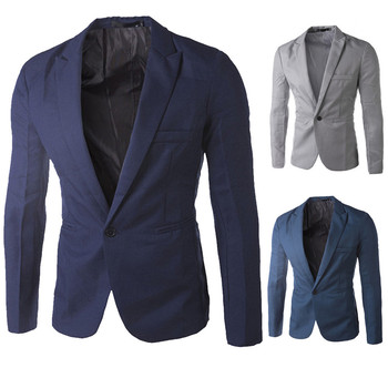 Autumn Blazer Plus Size 3XL Charm Men's NEW Fashion Casual Slim Fit One Button Business Wedding Blazer Coat Jacket Top Freeship