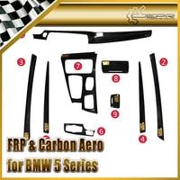 Car Styling For BMW 5 Series 11 15 F10 F18 Carbon Fiber Interior Sets 9pcs LHD