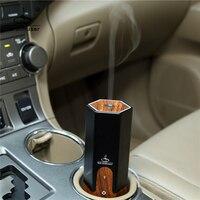 Newest 5W Car USB Unltrasonic Air Humidifier Wood Electric Essential Oil Aroma Diffuser Aluminium Alloy