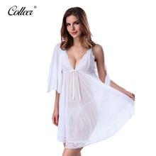 Colleer marca women lingerie corset con tanga 2 unidades set vestido de ropa de dormir ropa interior más el tamaño xxl envío gratis dropshi