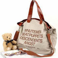 New Hotsale Hot sell letter Casual Canvas Bag Women's Messenger Bags Handbag Free shippment factory price 2015 Bolsa Feminina