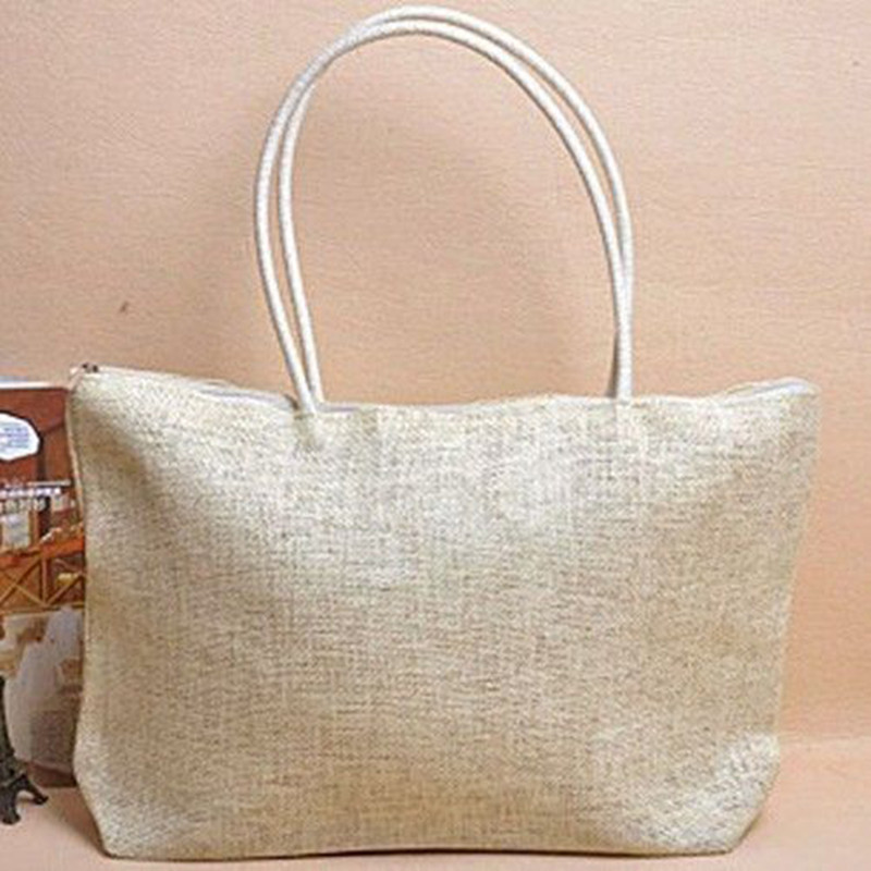 <font><b>2018</b></font> New Fashion <font><b>Women's</b></font> Handbag Straw Summer Beach Tote <font><b>Big</b></font> Zipper <font><b>Shoulder</b></font> <font><b>Bag</b></font> Luxury Handbags <font><b>Women</b></font> <font><b>Bags</b></font> Designer Borsa Donna image