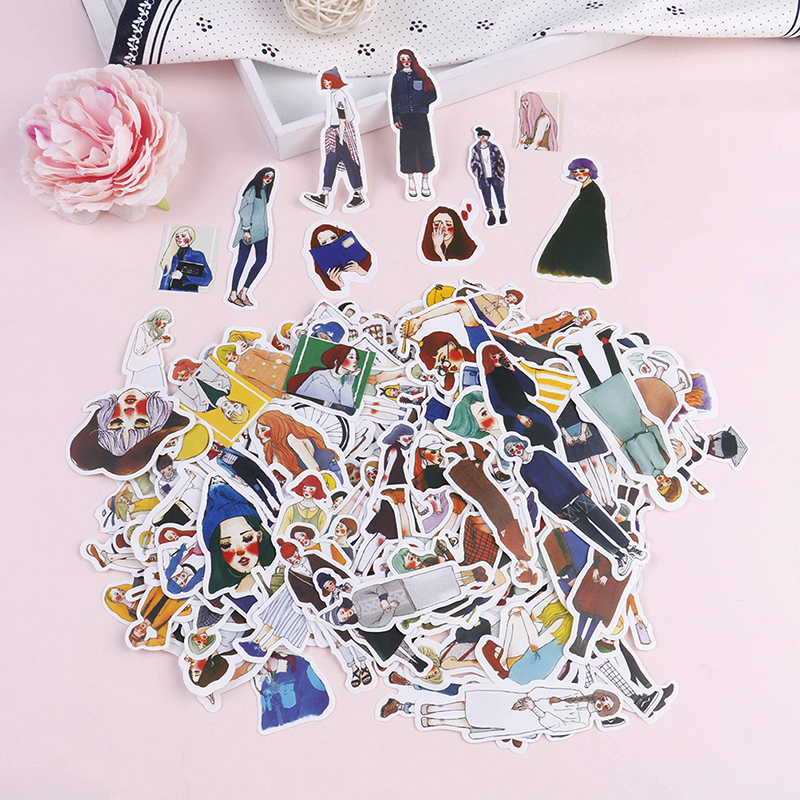 Pvc Waterproof Sexy Beauty Tattoo Girls Stickers For Laptop Motorcycle Skateboard Luggage Decal Toy Sticker 171/281/130Pcs