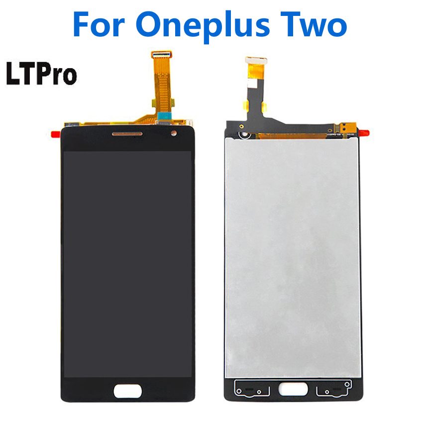 LTPro 100% Tested Working For <font><b>Oneplus</b></font> <font><b>2</b></font> LCD Display Touch <font><b>Screen</b></font> Digitizer Assembly For <font><b>Oneplus</b></font> Two Mobile <font><b>Replace</b></font> Parts Black image