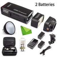 Godox AD200 комплект w/Extra Батарея, 200Ws 2,4 г ttl строба вспышки 1/8000 HSS беспроводные Monolight с 2900 мАч Lithimu Батарея CD50