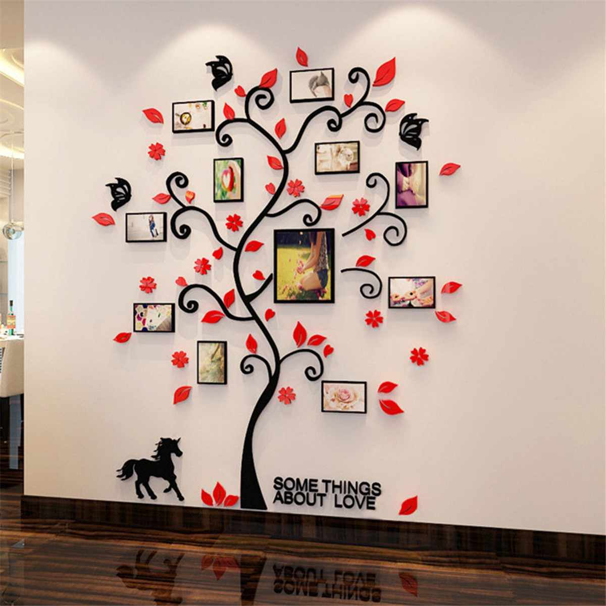Acrylic 3D Family Photo Frame Tree Wall Stickers Removable DIY Art Wall Poster Decals Poster For Living Room Bedroom Home Decor 7