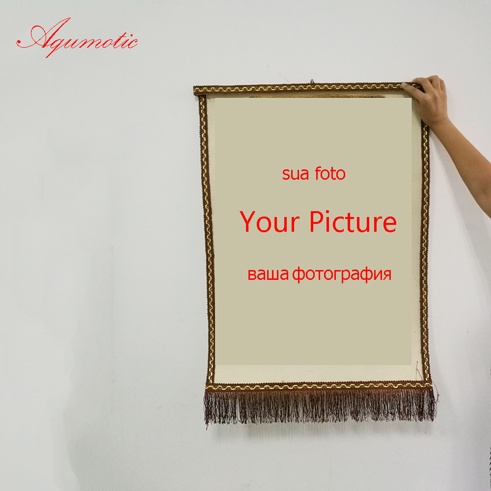 Aqumotic Customize The Image Wall Sticker Hanging for Home Handicrafts 80cm Hand Painted Wall Sticker Felt Cloth Fire Painting