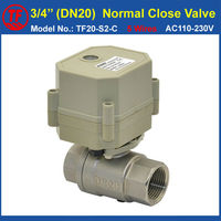 TF Electric Ball Valve TF20 S2 C 5 Wires AC110V 230V BSP NPT 3 4 Stainless