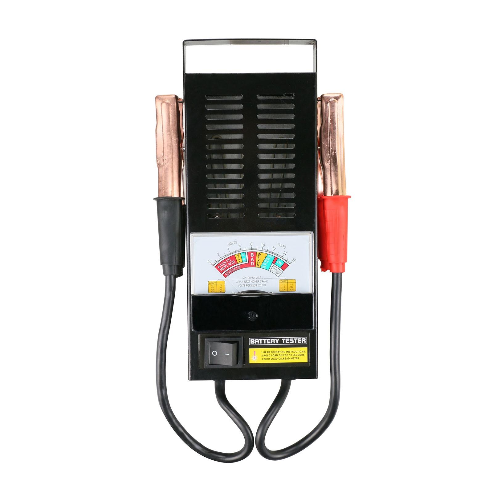 BT002 Car Battery Tester 6V 12V Digital Load Truck Motor Auto Engine Test Automtive Diagnostic Tool 100Amp Cca  Alligator Clip