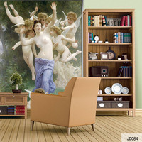 Custom DIY Fabric Textile Wallcoverings For Walls European Mural Retro Cotton And Linen For Living Room