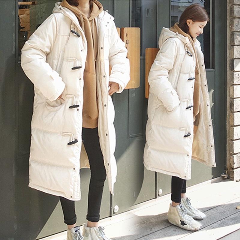 Dames black Lâche À Coton brown Blanc Casaco Femmes En Capuche 2019 Coton Chaud Inverno pink doudoune Manteau Ac137 Décontracté D'hiver Long De Nouveau Beige zn7z1x