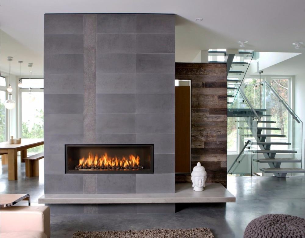 On Sale 48 Inch Decorative Chimney Black Wifi Control Bio Ethanol Fuel Fireplace