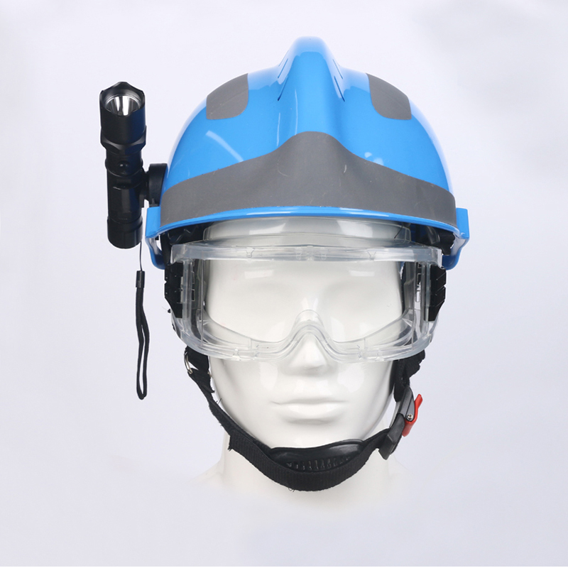 Image 4 - Safety Rescue Helmet Fire Fighter Protective Glasses Safety Helmets Workplace Fire Protection Hard Hat With Headlamp & Goggles-in Safety Helmet from Security & Protection