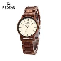 REDEAR Free Shipping 2019 Fashion Love's Watch Walnut Wooden Men Watch Full Wood Strap Automatic Watch Men Gift Watch