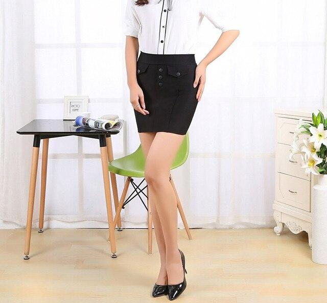 fac958f5f El nuevo con un tramo no puede estirar la bola nalgas cortos hombres y  mujeres la mitad del cuerpo delgado profesional falda era delgada S en  Faldas ...
