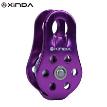 XINDA Rock Climbing Pulley Fixed Sideplate Single Sheave Pulley Outdoor Survival Tool High Altitud Traverse Hauling Gear