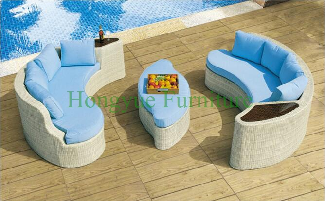 Outdoor rattan wicker sectional sofa set furniture