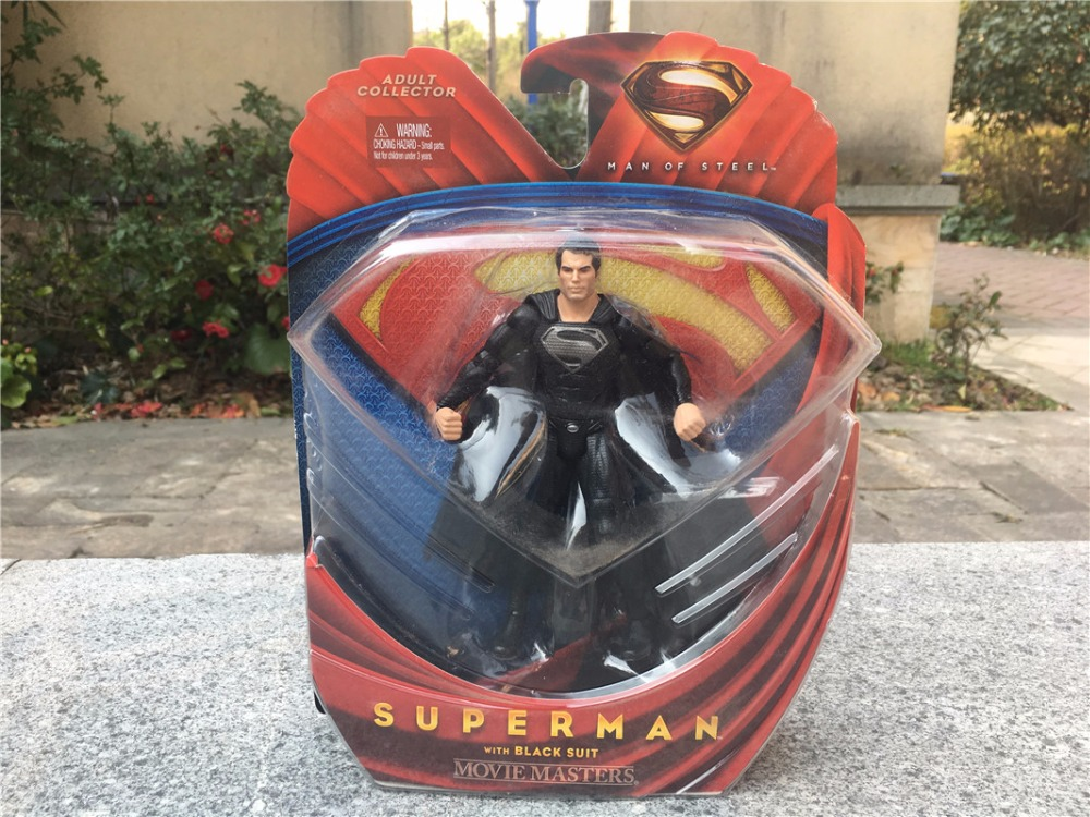 "KK01--DC Comics <font><b>Man</b></font> <font><b>of</b></font> <font><b>Steel</b></font> <font><b>Movie</b></font> <font><b>Masters</b></font> 6"" 15cm Action Figure <font><b>Superman</b></font> <font><b>with</b></font> Black Suit Brand New"