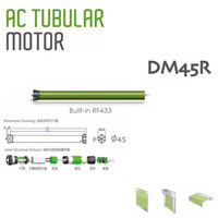 High Quality Original Dooya Tubular Motor DM45R/DM45S Motor for all kinds rolling blinds,220v 50HZ,RF433MHZ Motor/4 Wire motor
