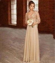 Luxus 2016 Abendkleider Mit Langen Ärmeln Chiffon Vestido De Festa Prinzessin Stil Formale Kleider Für Hochzeit Kleider