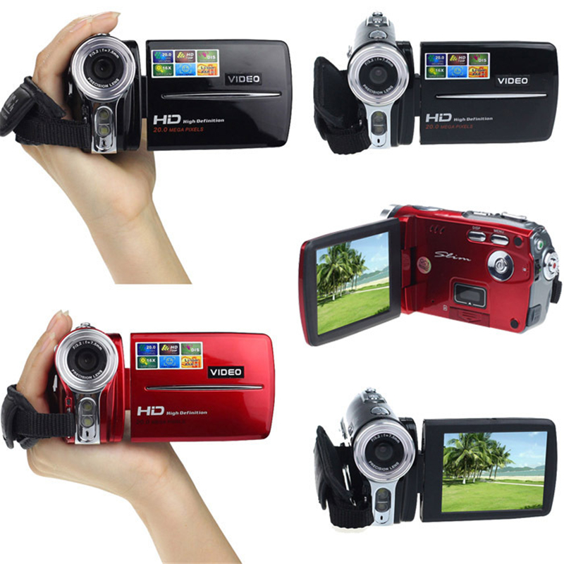 High quality 3 Inch TFT LCD Digital Camera 720P HD 20MP Video Camcorder With AAA*4 Alkaine Batteries/Lithium Battery 16x Zoom DV 2017 new 20mp 8x optical zoom cheap digital camera quality digital camera 2 7 screen 720p hd video lithium battery