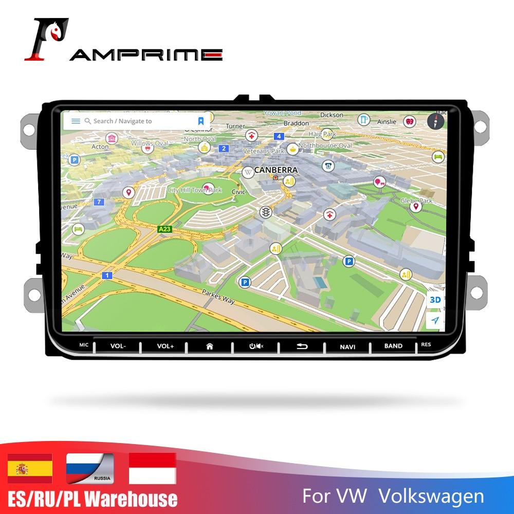 Autoradio AMPrime Android 9 pouces autoradio Navigation GPS lecteur multimédia automatique pour Passat Golf MK5 MK6 T5 EOS POLO Tour