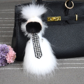 Tide Fun Charm Fur Bag Pendant figure karlito Real raccoon Key Chain High-end Auto Pendant Fashion Handbag Accessories